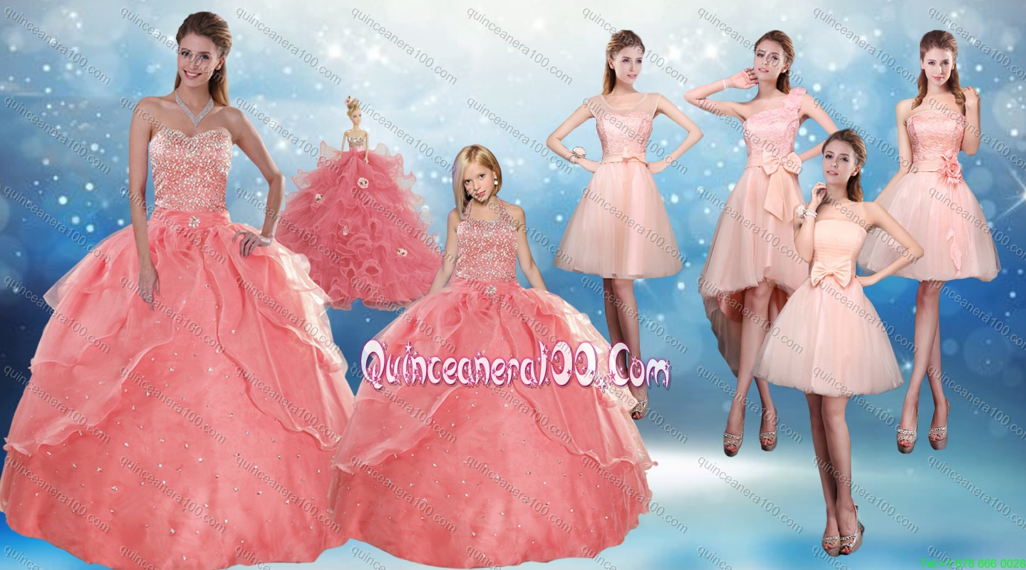 2015 Perfect Sweetheart Beading Quinceanera Dress and Cute Bownot ...