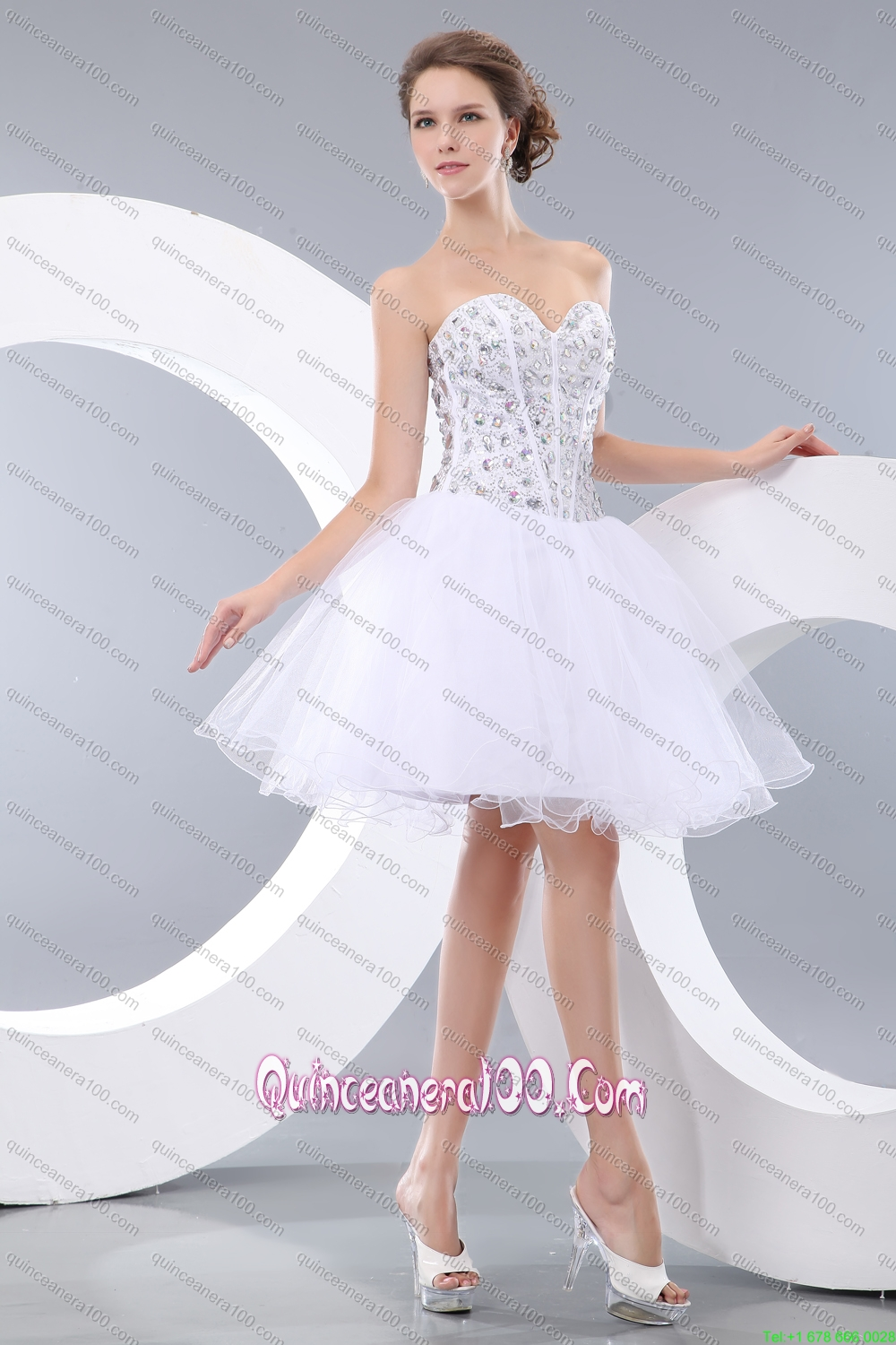 2015 red ruffled quinceanera dress and beaded white short for Short red and white wedding dresses