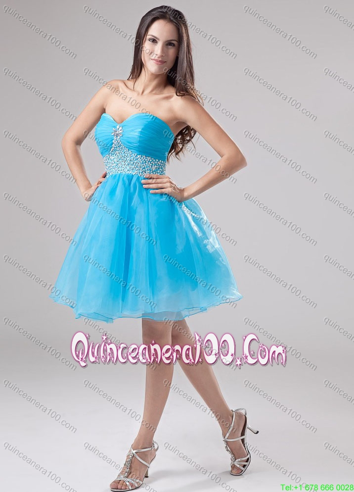 Cute Ball Gone Quinceanera Dress and Beading Baby Blue ...