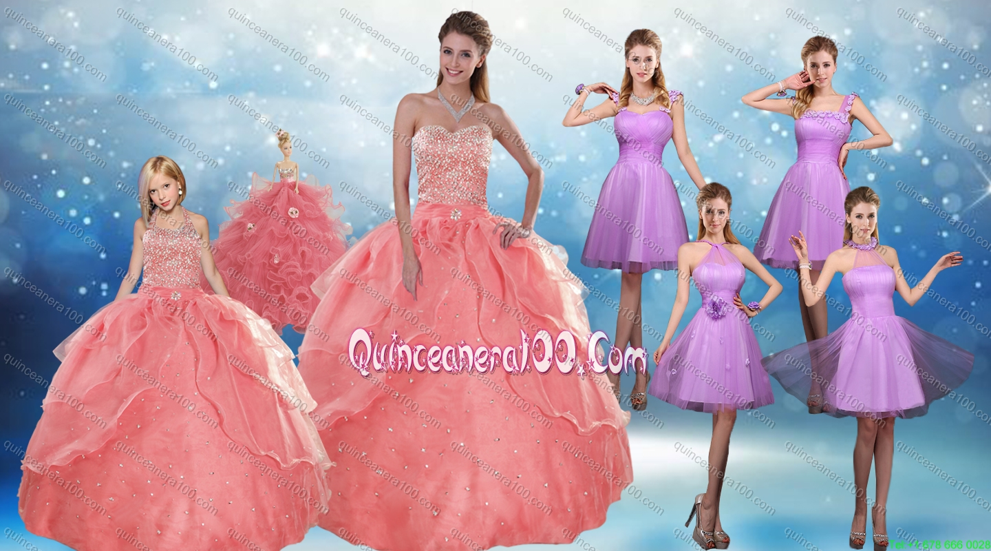 Perfect Beading Floor Length Quinceanera Dress and Short Ruching ...