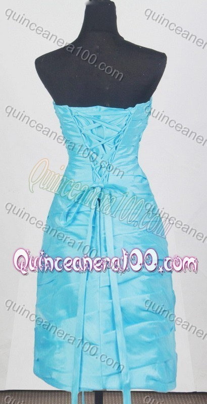 Gorgeous Baby Blue Strapless Appliques and Pick-ups Quinceanera Dresses