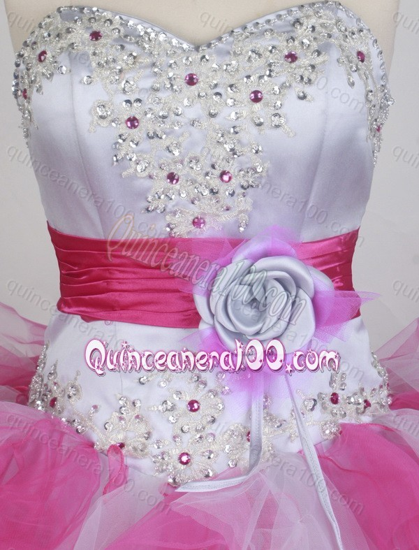 2014 Pretty Ball Gown Sweetheart Beading and Hand Made Flower ...