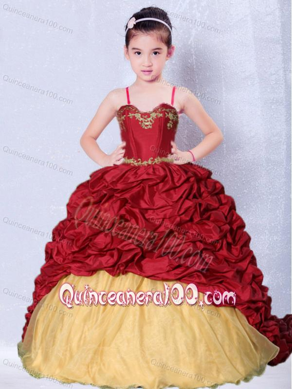Red Bridesmaid Dresses For Little Girls Little Girl Pageant Dress