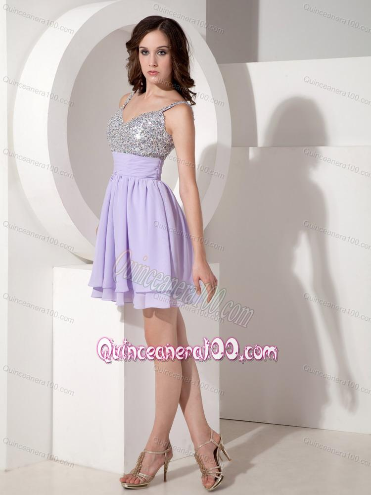 Lavender Beaded Empire Sweetheart 16 Birthday Party Dress with ...