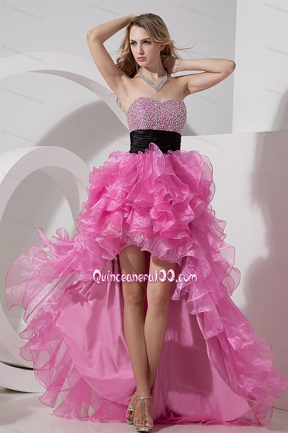 Rose Pink A-line / Princess Prom Dress Sweetheart 16 Birthday Party ...