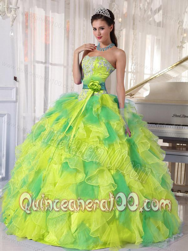 75f2a36da79 All Colors Ball Gown Strapless Appliques and Ruffles Sweet Sixteen  Quinceanera Dresses - Quinceanera 100