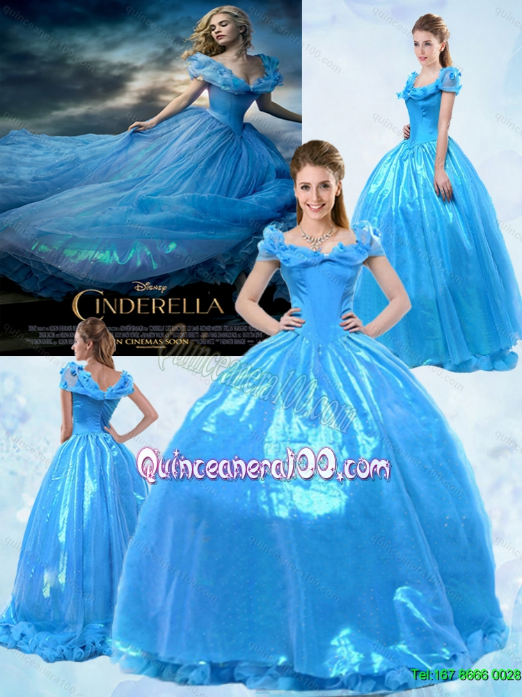 f1b28380877 Fashionable Ball Gown Off the Shoulder Cinderella Quinceanera Dress in Blue.  triumph