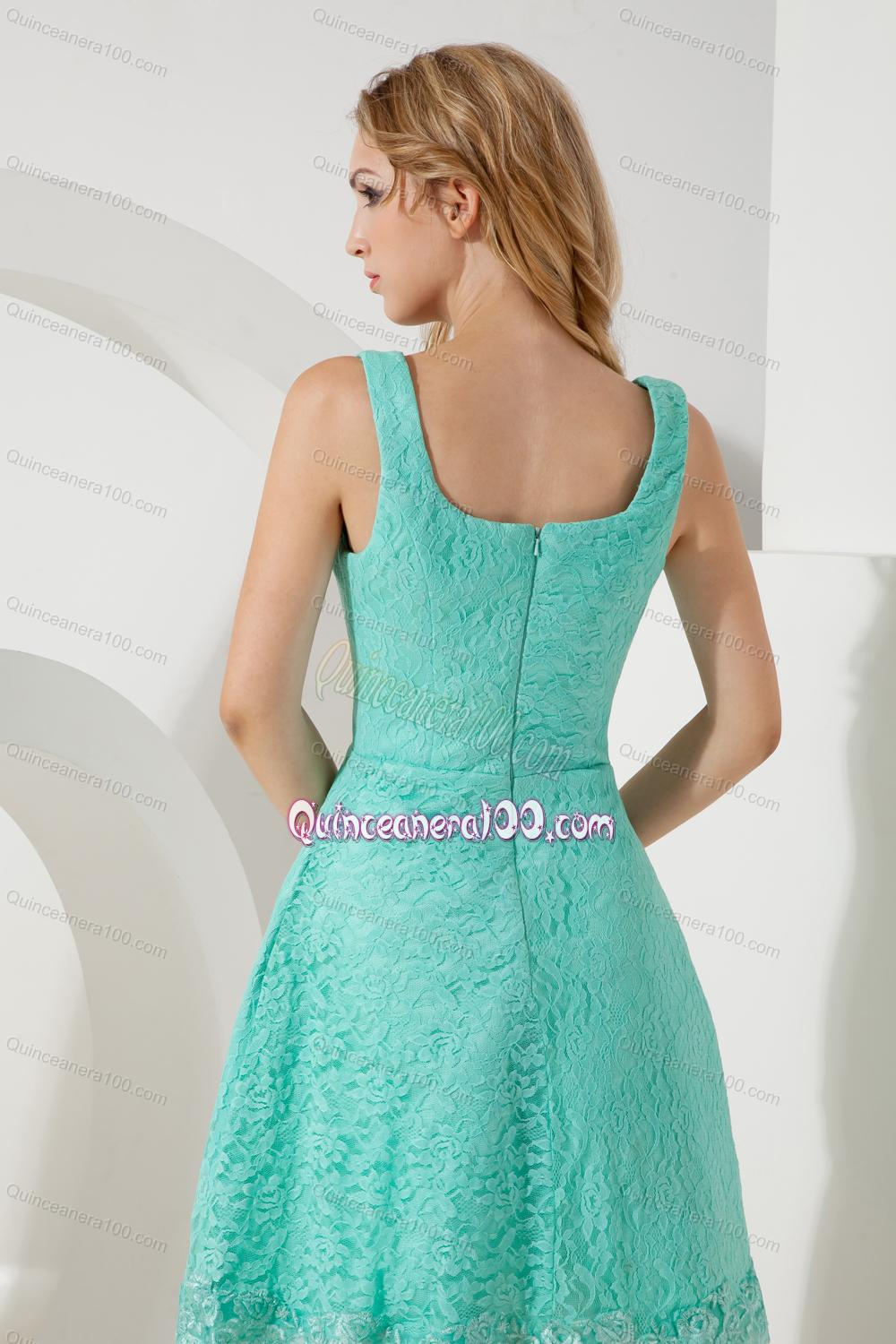 2014 The Most Popular Square Lace Turquoise Mother of the Dresses ...