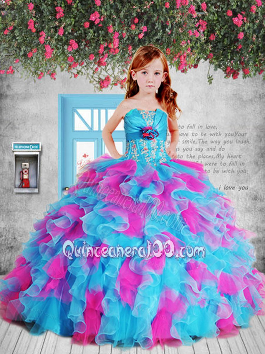 Quinceanera Dresses with Hand Made Flower - Quinceanera100.com