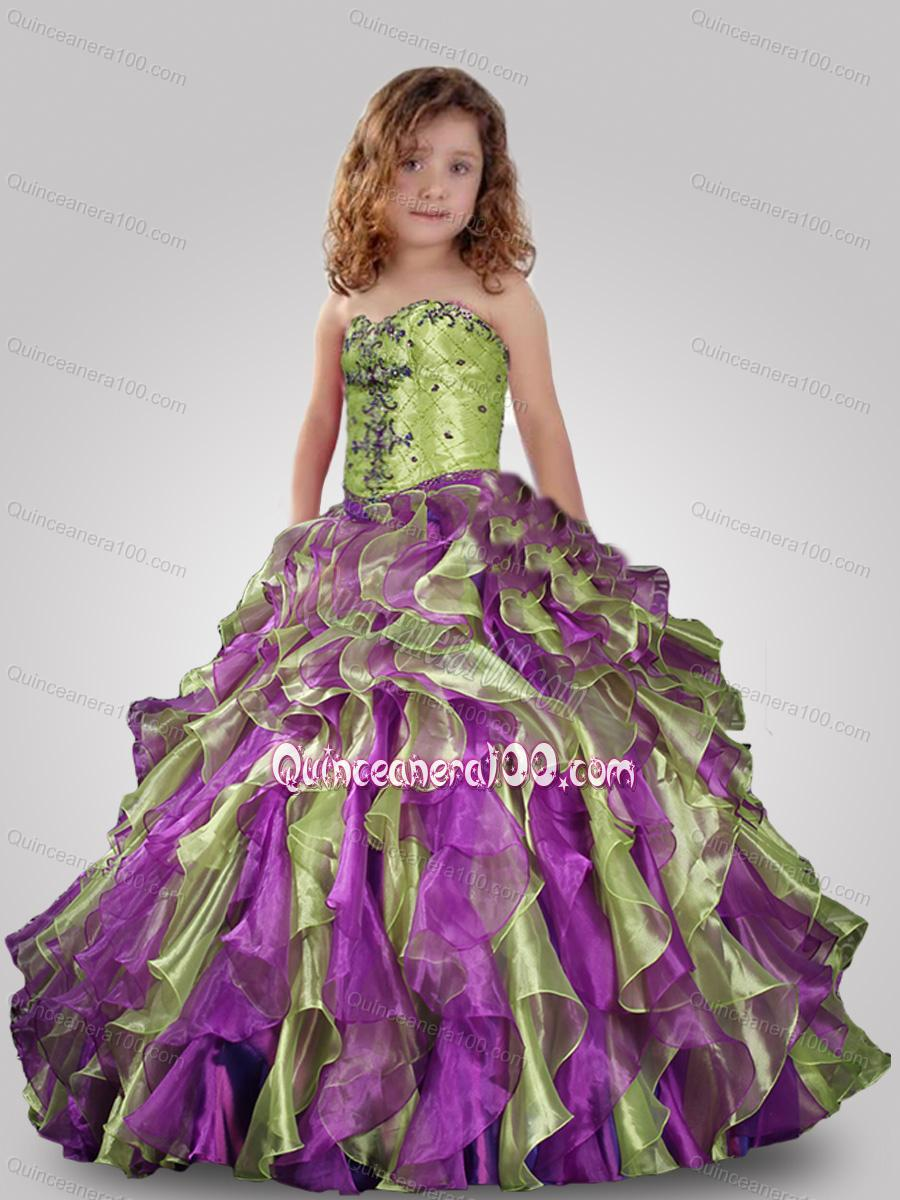 Multi colored pageant dress