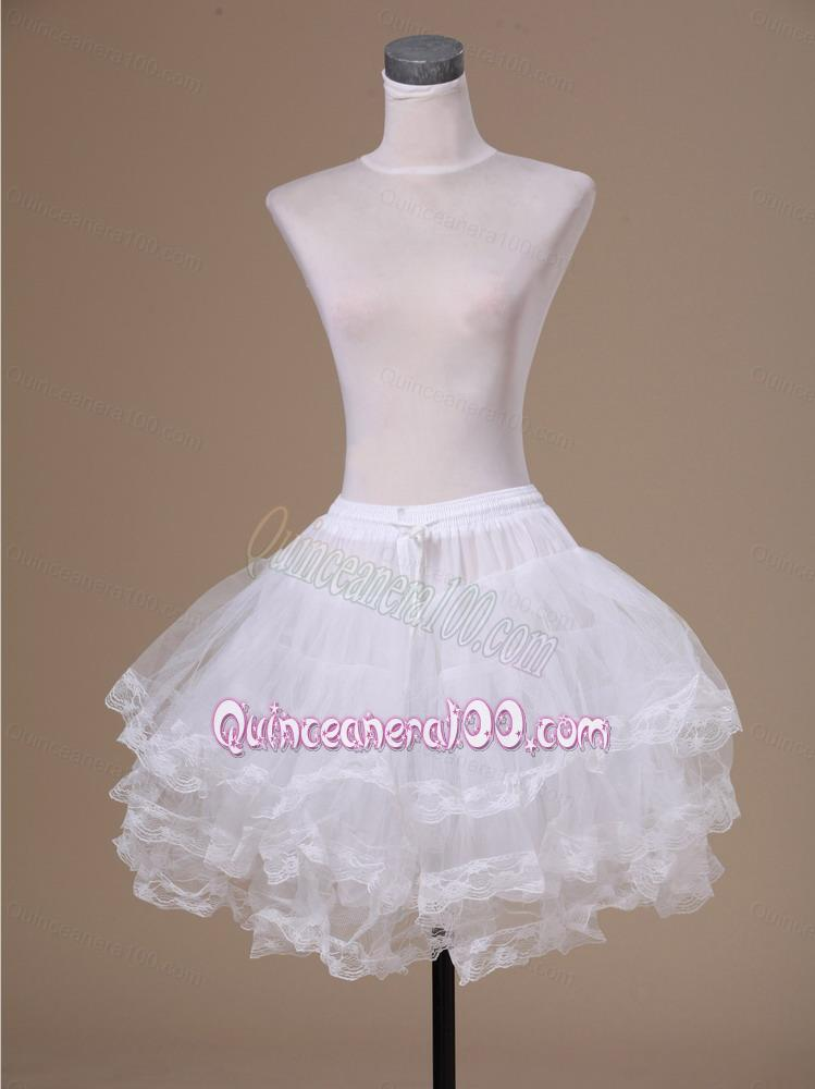 Ball gown tulle mini length unique wedding petticoat for Tulle petticoat for wedding dress