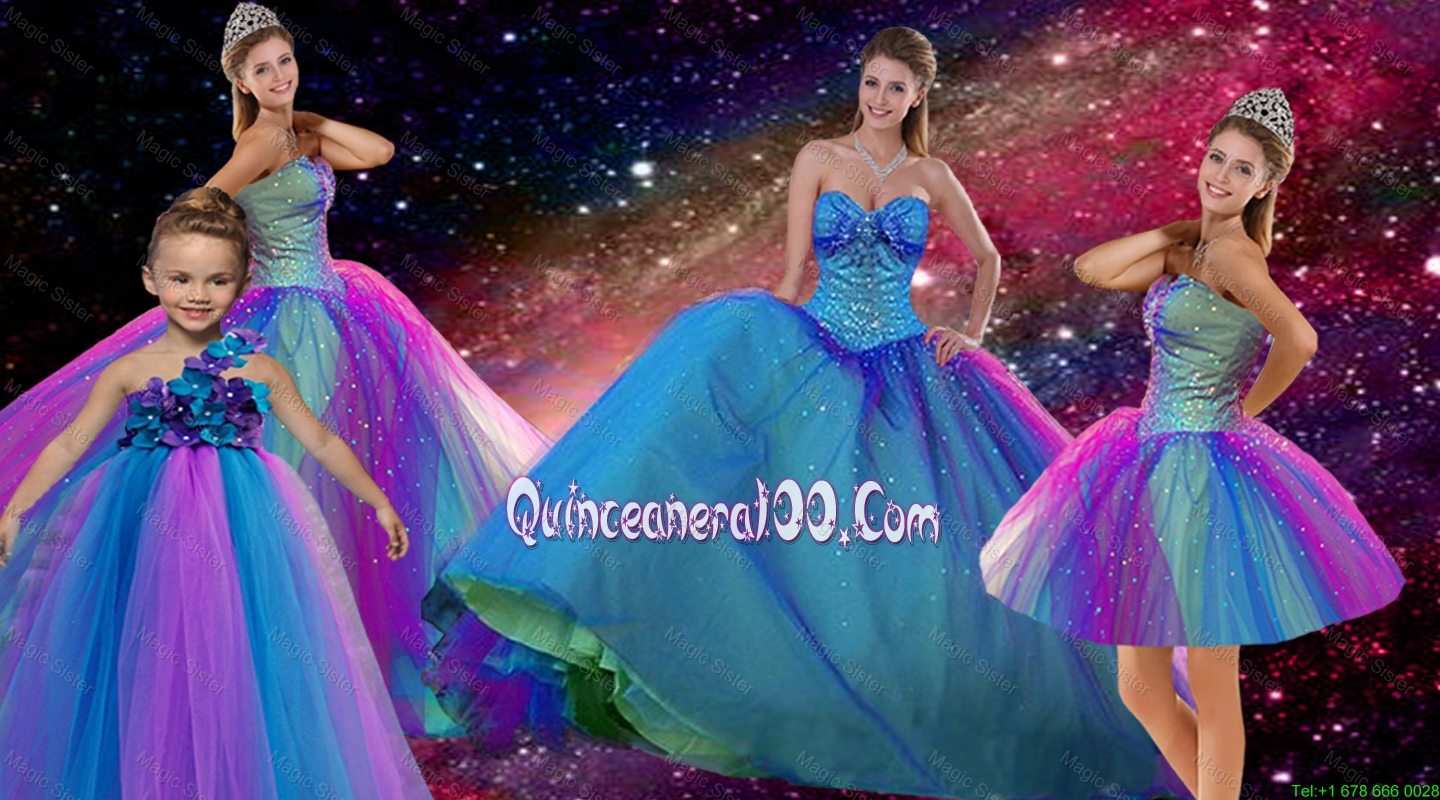 Popular Beaded Multi Color Quinceanera Dresses and Elegant ...