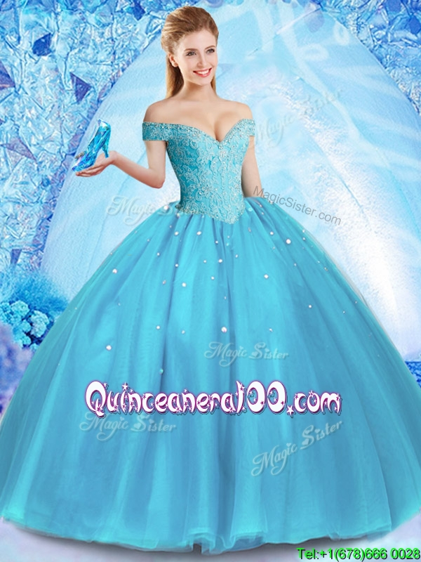 Perfect Off the Shoulder Quinceanera Dress with Venetian Pearl ...