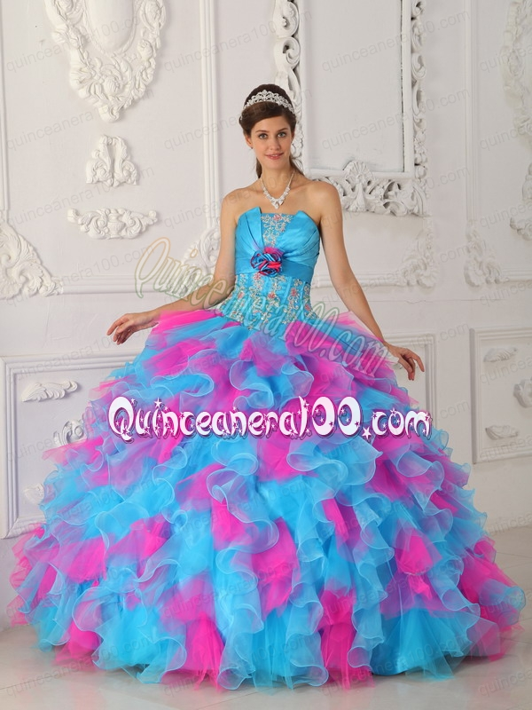 Pink and Turquoise Dresses
