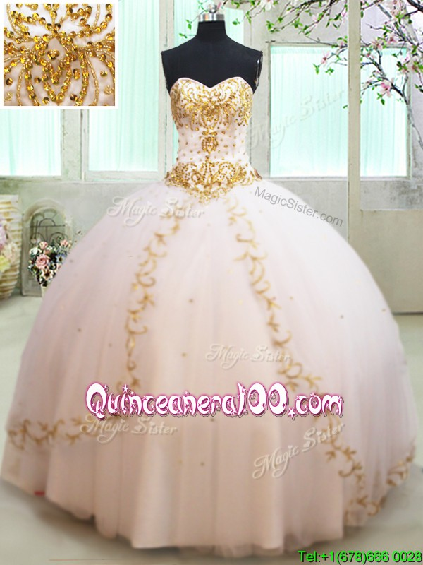 15 dresses white and gold
