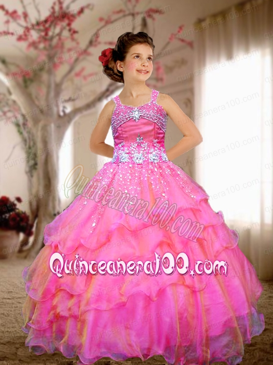 Little Girl Party Dresses Pink - Discount Evening Dresses
