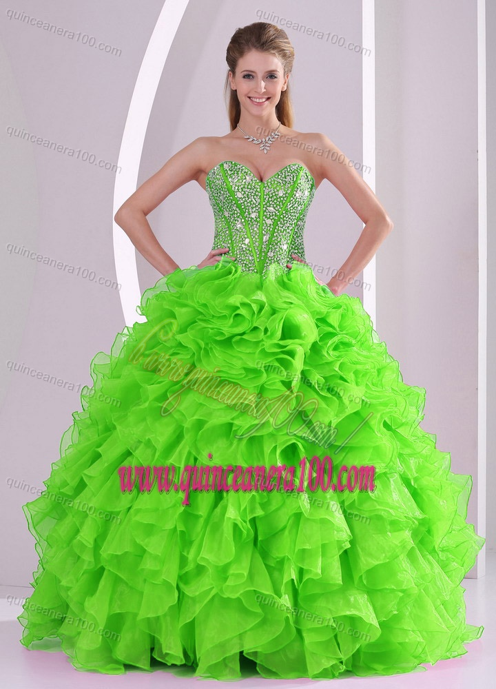 2014 Spring Puffy Sweetheart Beading Quinceanera Dress with Full ...