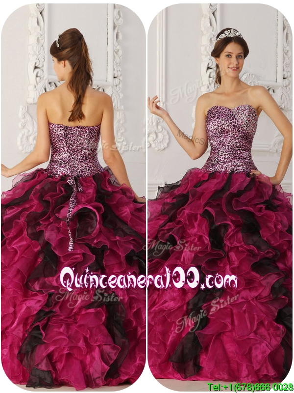 2016 Traditional Ball Gown Floor Length Quinceanera Dresses in Multi ...