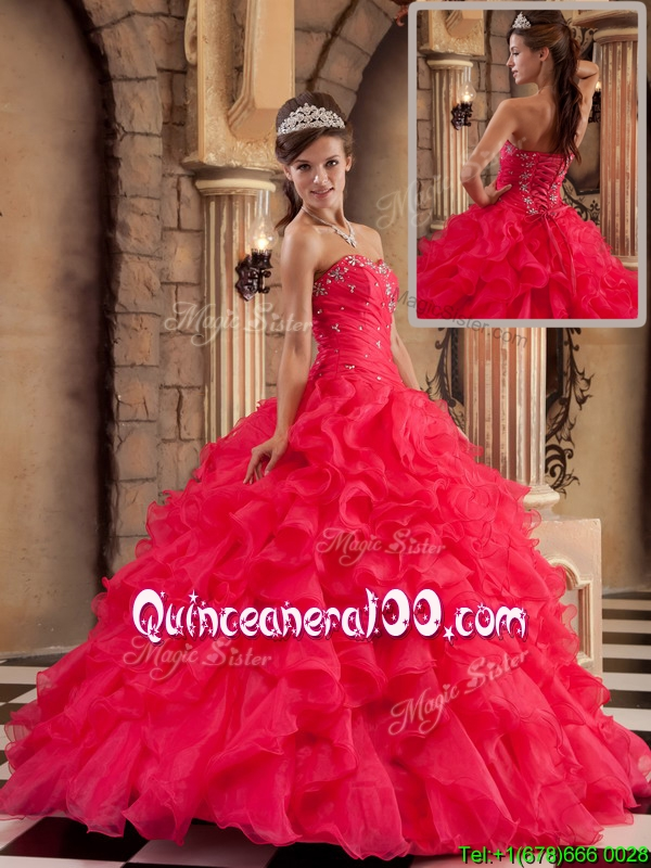 2016 Traditional Ball Gown Sweetheart Floor Length Quinceanera ...