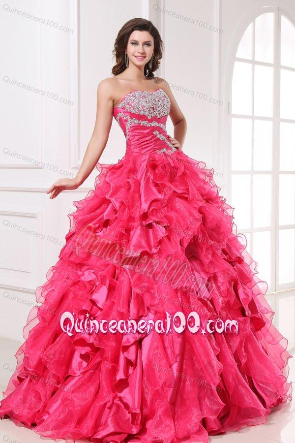Quinceanera Dresses Hot Pink And Silver Hot pink quinceanera dressQuinceanera Dresses Pink And Silver