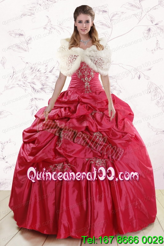 traditional strapless hot pink quinceanera dresses with