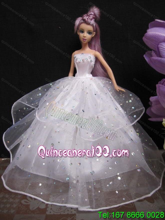 Как сшить. свадебное платье для куклы своими руками