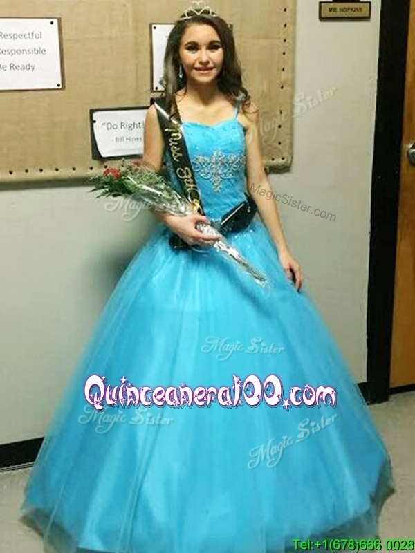 1902ab2b42c Discount Strapless Big Puffy Quinceanera Dress with Beading and Appliques.  triumph