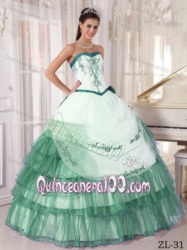 Turquoise And White Quinceanera Dresses Ball gown dress quincesTurquoise And White Quinceanera Dresses 2014