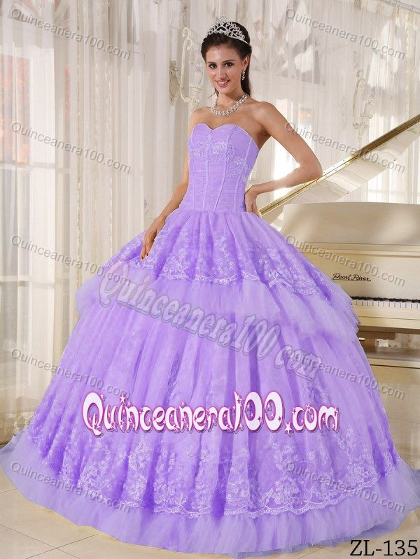 Light Purple Quinceanera Dresses Lilac Quinceanera Gown