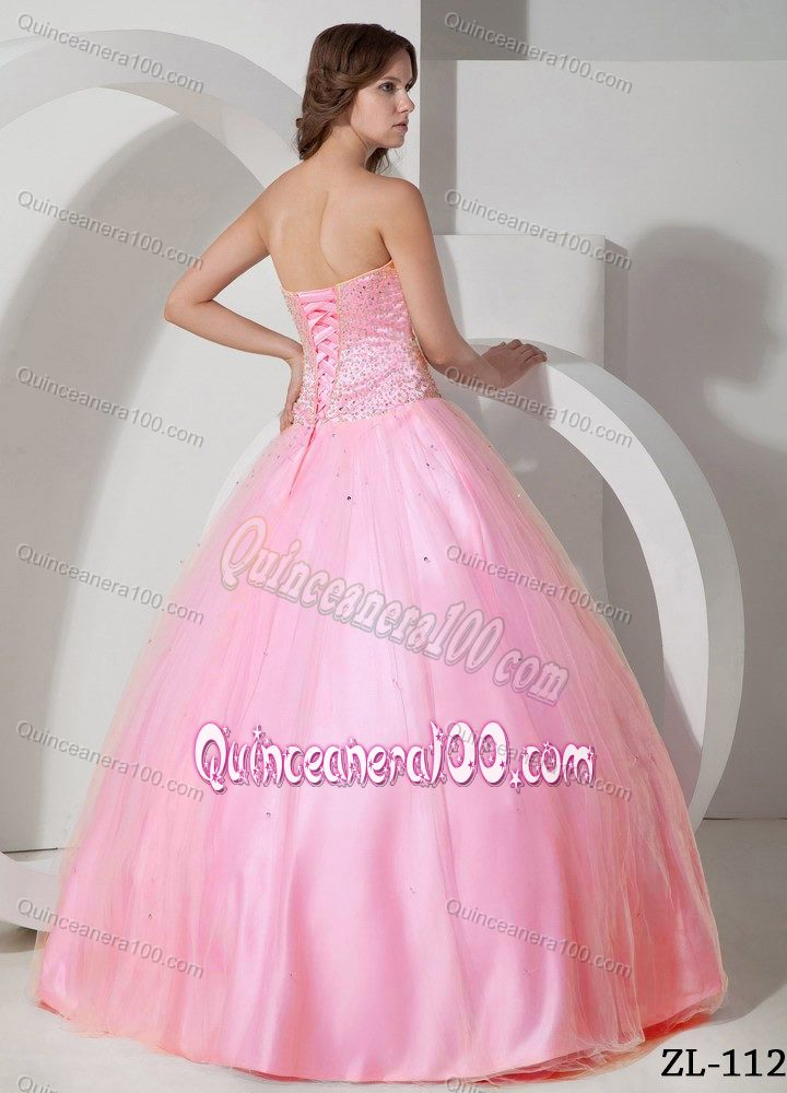 Sweetheart Beading Dresses For a Quinceanera in Light Pink ...