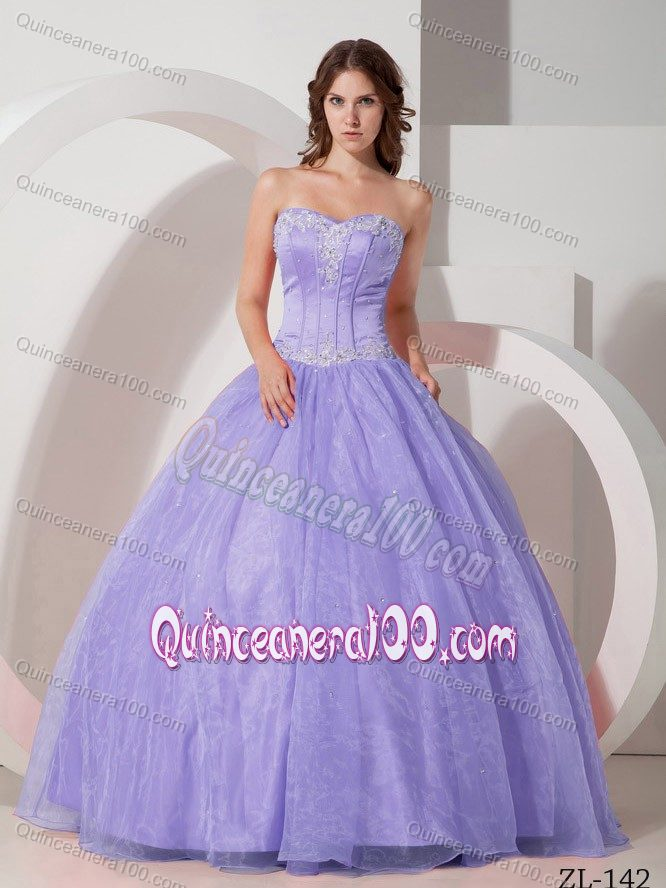 Sweetheart Lavender Sweet 16 Dresses with Appliques and Beading ...