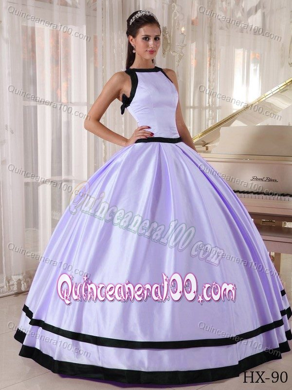 Lilac and Black Bateau Neckline Ball Gown Sweet Sixteen Dresses ...