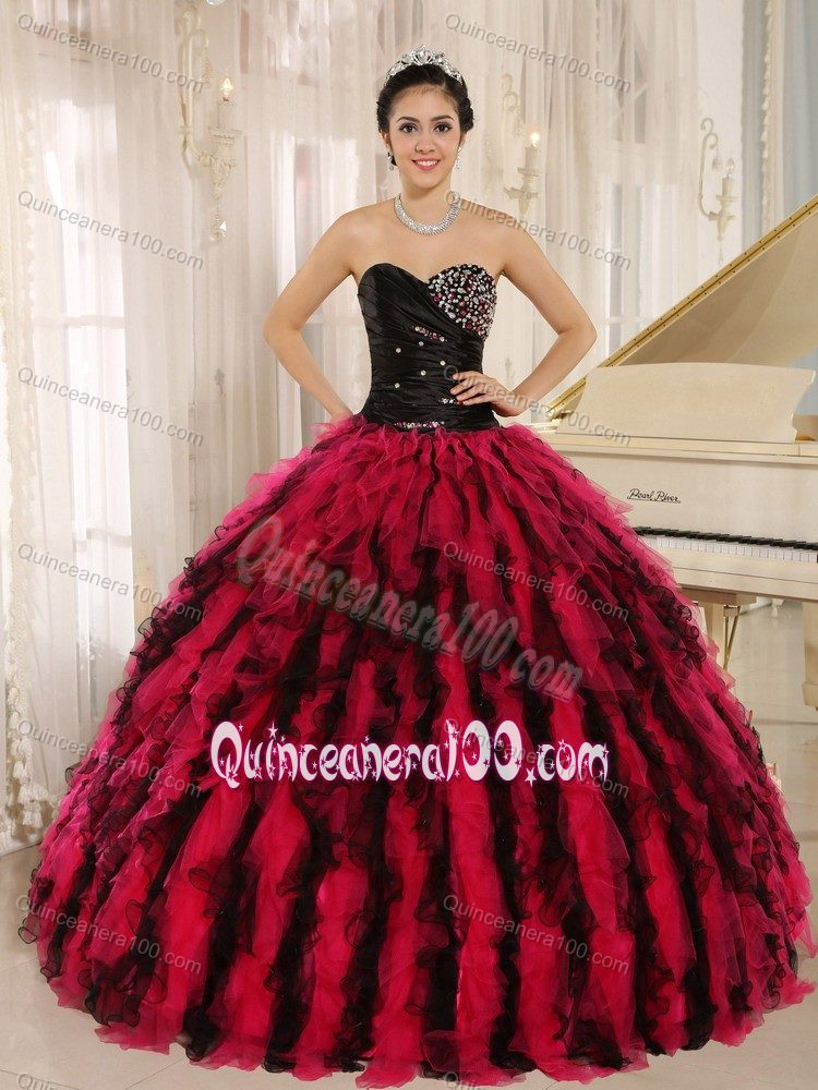American Music Awards Recommended Ball Gown Beading Sweet 15 Dresses with Pick-ups