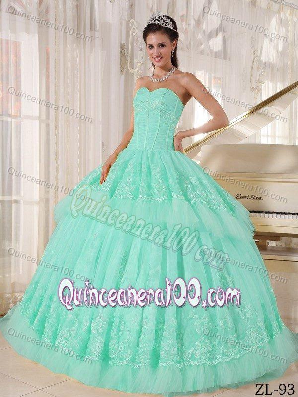 Quinceanera Dresses 2014 Mint Mint Green Quinceanera...
