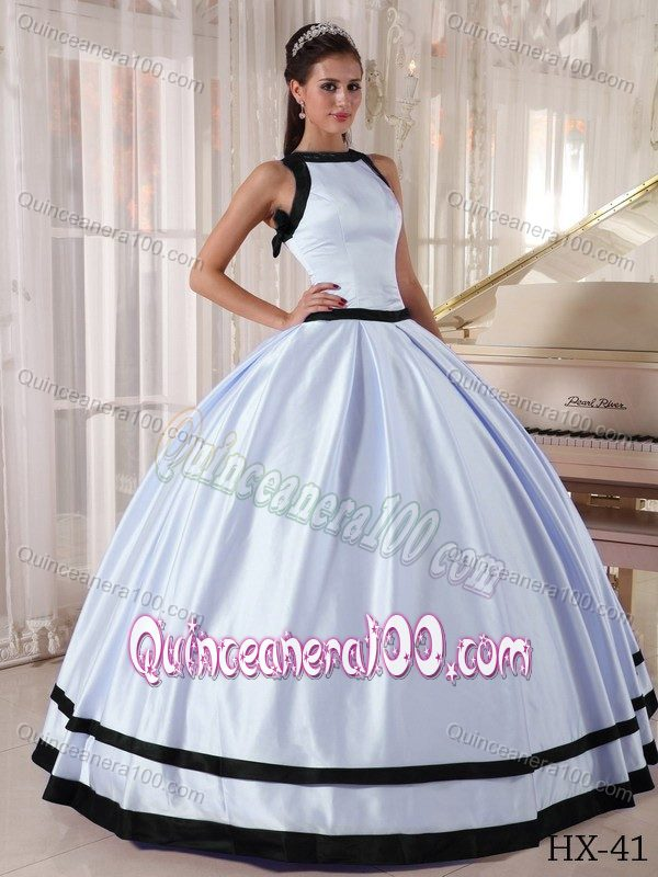 Unique Lilac and Black Ball Gown Bateau Quinceanera Gowns ...