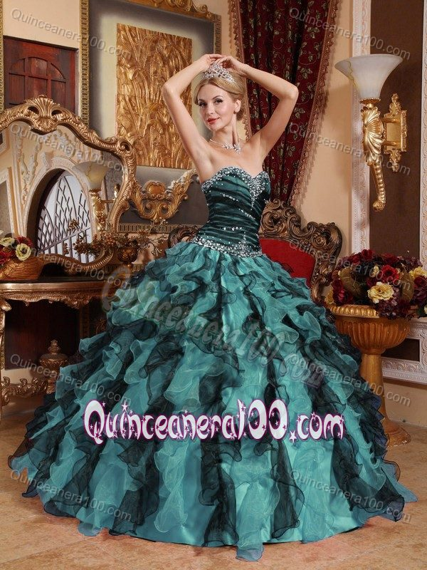 ce5a4bc6853  6896.68  114.24 -  172.63  World Music Awards Multi-colored Beading Ruched  Bust Sweet 15 Dresses with Ruffles