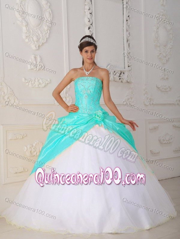 Blue And White Quinceanera Dresses - Missy Dress