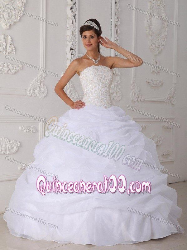 Pretty 2014 White Quinceanera Dresses - Discount Quinceanera 100