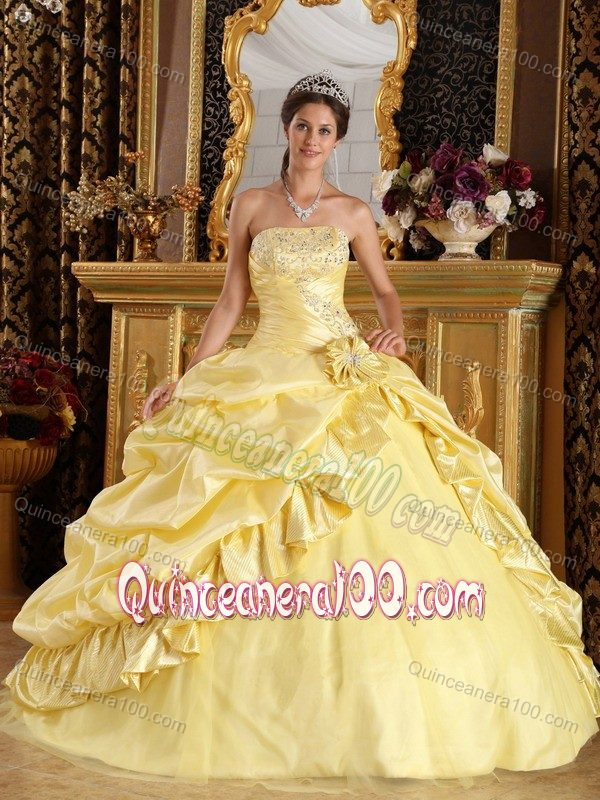 Impressive Light Yellow Ball Gown Dreaming Quinceanera Dress for ...