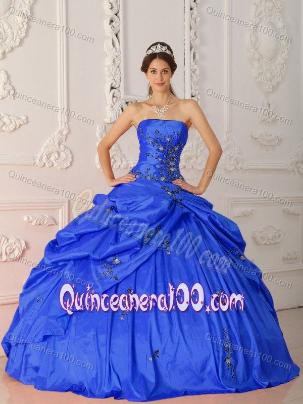 Fabulous Royal Blue Ball Gown Quinceanera Dress with Appliques ...