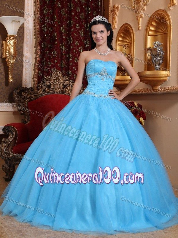 Coral Red Strapless Full-length Quinceanera Gowns with Dotted Fabric ...