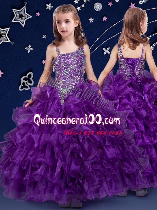 Purple Little Girls Pageant Dress Quinceanera and Wedding Party and ...
