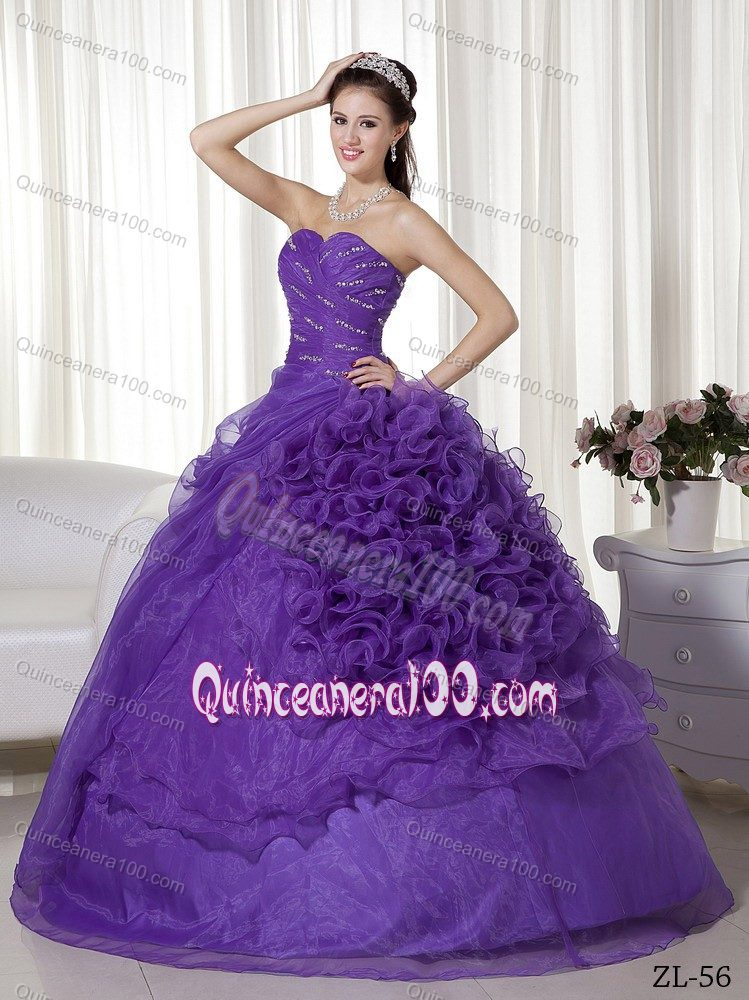 Purple Quinceanera Gowns with Specially Designed Bottom Skirt ...