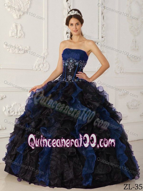 Blue And Black Quinceanera Dresses & Gowns - Quinceanera 100