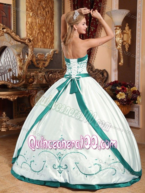 the picture online and the finished dress  this is not an errorTurquoise And White Quinceanera Dresses 2014