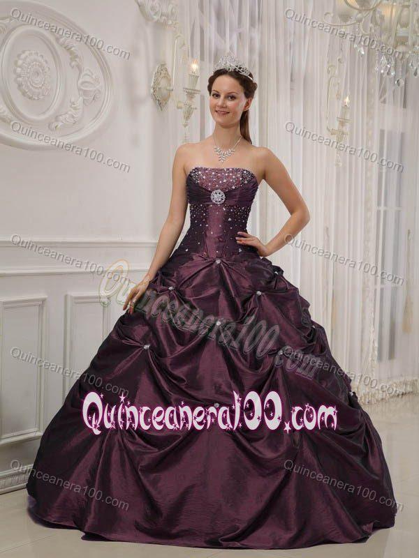 Unique Custom Made Dark Purple Quinceanera Dresses - Disney ...