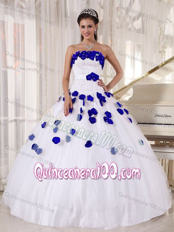Quinceanera dresses blue and white 2017