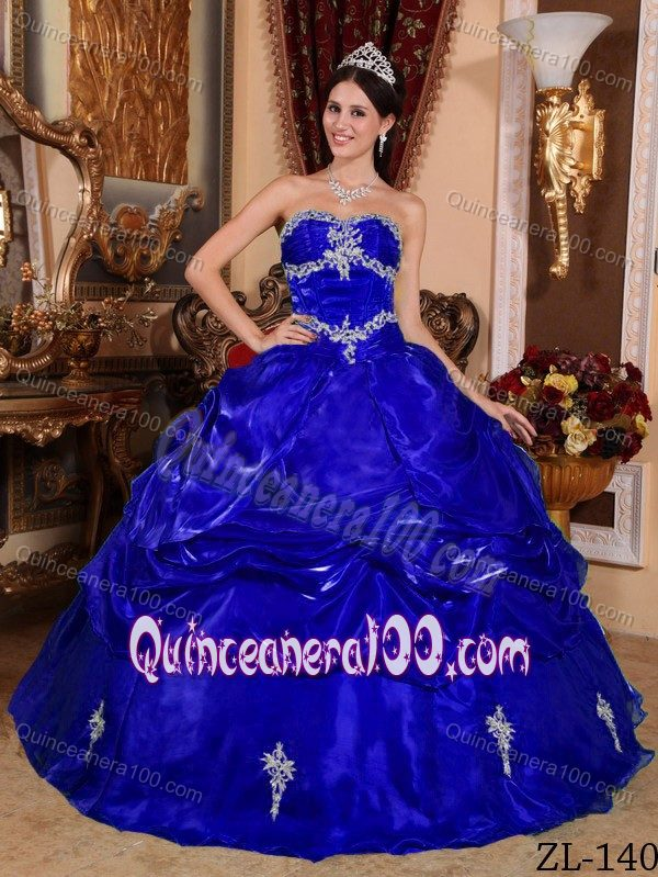 Pretty 2014 Royal Blue Quinceanera Dresses - Discount Quinceanera 100