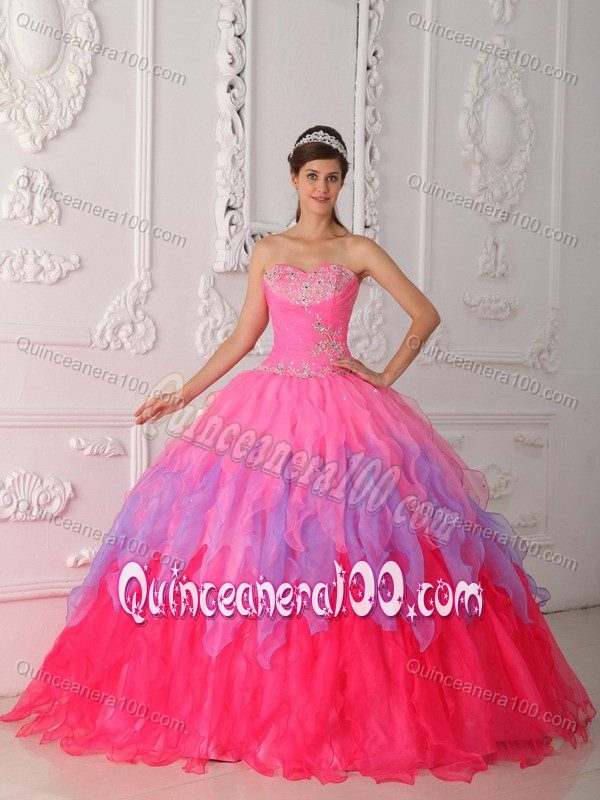 9245322c09d Ruffles and Appliques Accent Sweet Sixteen Dress in Multiple Colors ...