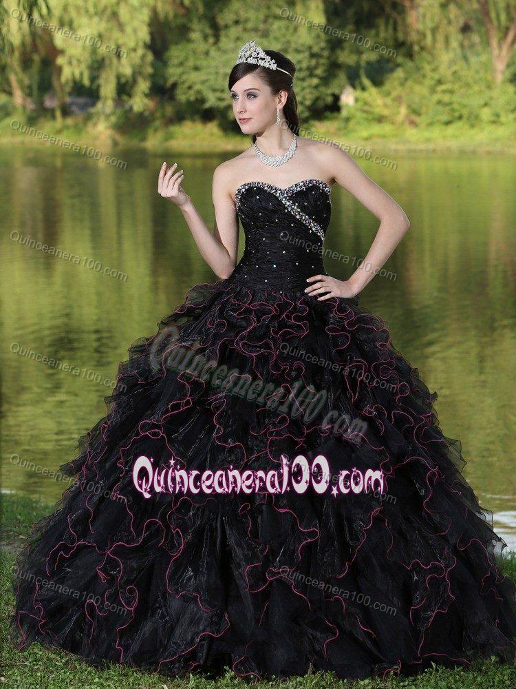Black quinceanera dresses